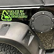 Fuelled By Recycled Dinosaurs Bumper Sticker Funny Bumper Sticker Car Van 4x4 Window Paintwork Decal Graphic Küche Haushalt