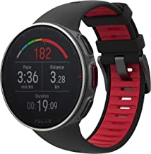 Polar Vantage V Titan Multi-Sport & Triathlon Watch - Black & Red - 90072459