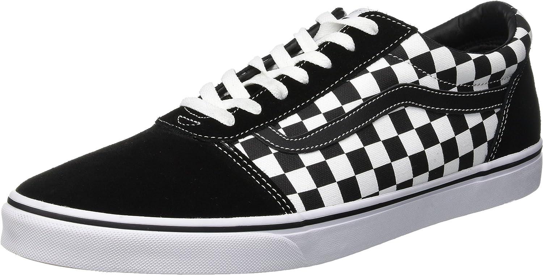 Vans Men's Ward Checkered Trainers, Black