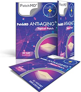 PatchMD - Anti-Aging Topical Patches - Includes Natural Anti-Aging antioxidants Like Resveratrol, CoQ10, Curcumin, Vitamin...