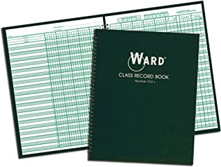 Ward 910L Class Record Book, 38 Students, 9-10 Week Grading, 11 x 8-1/2, Green (HUB910L)