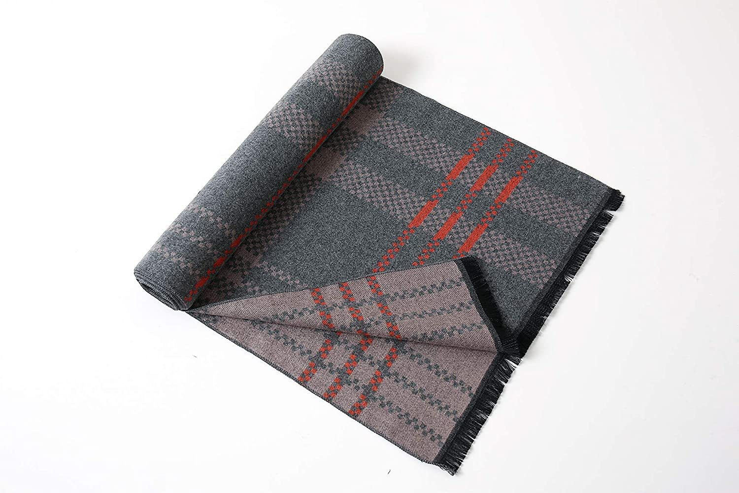 Eagool Thick Cashmere Scarf For Men Gift Idea Extremely Warm Super Soft Wool Scarf For Winter Autumn And Spring