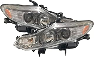 Headlight Replacement For Nissan Murano Driver Left and Passenger Right Pair Set 2009 2010 2011 2012 2013 2014 Headlamp Assembly