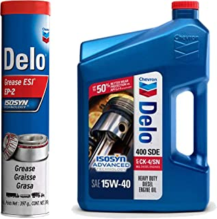 Delo Grease ESI EP-2 bundle with Delo 400 SDE SAE 15W-40, 1-Gallon, Single