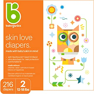 Sponsored Ad - Babyganics Ultra Absorbent Diapers, Size 2, 216 ct, Packaging May Vary