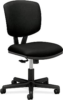 HON H5703.GA10.T Volt Task Chair - Armless Office Chair for Computer Desk, Black Fabric (H5703 )