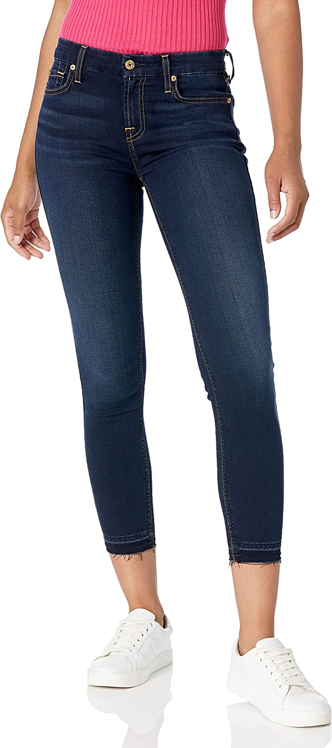 7 For All Mankind Women's Mid Rise Skinny Fit Ankle Jeans