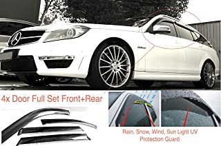 J/&J AUTOMOTIVE Deflecteurs dair d/éflecteurs de Vent Compatible avec Mercedes Classe B W246 5 P 2011-pr/és 2 pi/èces