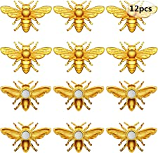 12 Pieces Bees Refrigerator Magnets Bees Fridge Magnets Cute Bee Whiteboard Magnets for Office Whiteboard Fridge Decoratio...