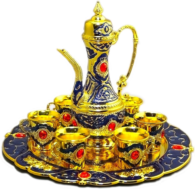 8-piece Tea Set Minneapolis Mall Ranking TOP1 Silver copper Teapot Pattern pot Deco coffee