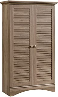 Sauder Harbor View Storage Cabinet, Salt Oak finish