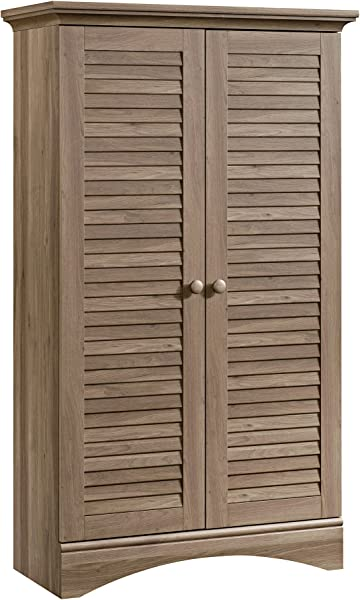 Sauder 416825 Harbor View Storage Cabinet L 35 43 X W 16 73 X H 61 02 Salt Oak Finish