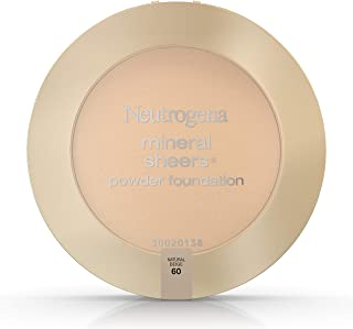 Neutrogena Mineral Sheers Compact Powder Foundation Spf 20, Natural Beige 60,.34 Oz. (Pack of 2)