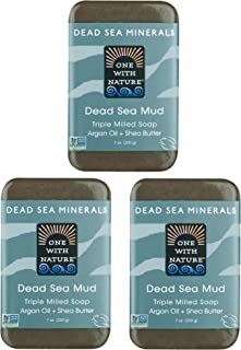 Sponsored Ad - DEAD SEA Salt Mud SOAP 3 PK, Dead Sea Salt, Shea Butter, Argan Oil, Magnesium, Sulfur, Mineral Soap. All Sk...