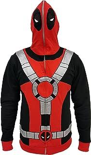 Marvel Deadpool Suit Adult Zip Up Costume Hoodie