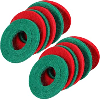 12 Pieces Battery Terminal Anti Corrosion Washers Fiber Battery Terminal Protector, 6 Red and 6 Green
