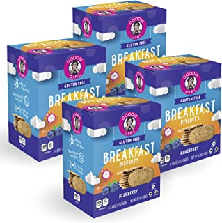 Goodie Girl Cookies Blueberry Breakfast Biscuits, Gluten Free Snack, Peanut Free, Vegan (4 Count, Includes 4 Boxes)