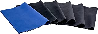 Glasses Cleaning Cloth For Optical Workshop in size extra large or standard ? Microfibre Cloth Also Suitable for Cleaning Screens (6 pack 5x black 1 blue 5.5 x 7.1'')