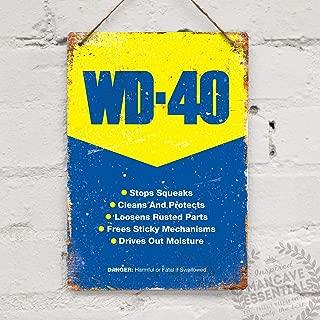 WD40 Vintage Racing Shed Garage Tool Oil Tin Sign Metal Sign TIN Sign 7.8X11.8 INCH