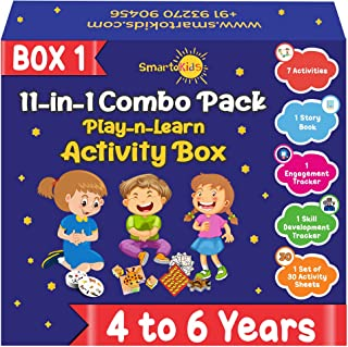 SmartoKids Paper; Wood; MDF Activity Box, Multicolour, 4 years - 6 years, Total 11 items