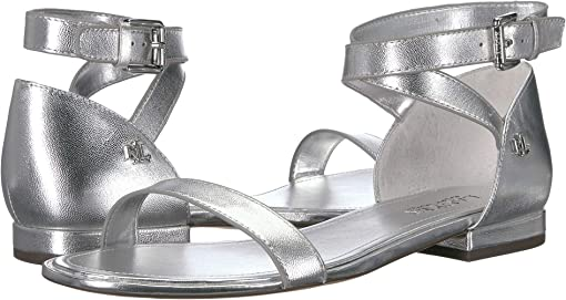 RL Silver Metallic Leather