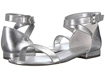 LAUREN Ralph Lauren Davison (RL Silver Metallic Leather) Women