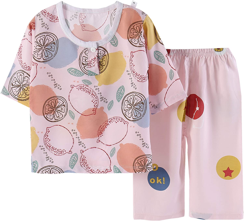 Jsmiten Kids Boys Girls 2 Pieces Clothing Set Unisex Baby Summer Clothes Set for Toddler