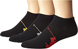 3-Pack Big Polo Player On Sole Low Cut