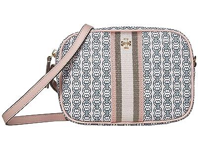 Tory Burch Gemini Link Canvas Mini Bag (Coastal Pink Gemini Link) Handbags