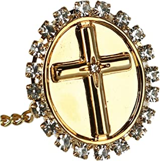 Ascentix Men's Tie Tack with Crystal Accent Cross