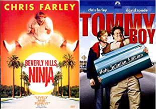 Chris Farley Tommy Boy Comedy Movie & Beverly Hills Ninja DVD Bundle Double Feature