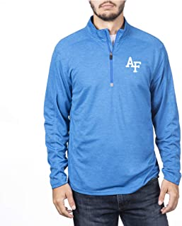 Top of the World Air Force Falcons Men's Team Color Heathered Poly Half Zip Pullover, XX-Large