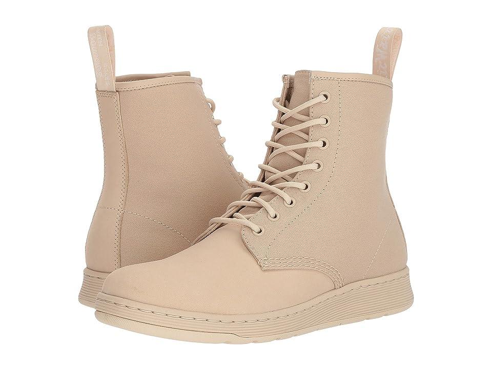 Dr. Martens Newton 8-Eye Boot (Sand Kaya/Sand 12 oz Canvas) Lace-up Boots