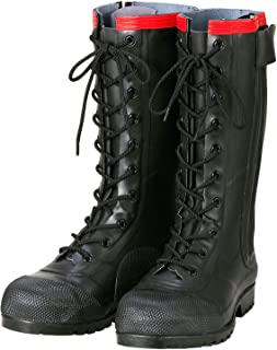 Antistatic Boots AE030 Rubber Safety Lace-up Boots Conductive Type / 静電気帯電防止長靴 AE030 安全編上長靴導電タイプ