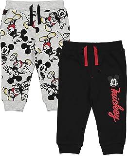 Disney Mickey Mouse Baby Boys Drawstring 2 Pack Pants