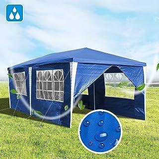 Hengda 3x6m Gazebo, Carpas Impermeables Pabellón, Carpa de Jardín con 6 Paredes Laterales para la Fiesta de Bodas Patio Camping, Azul