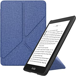 MoKo Case Compatible with K i n d l e Paper w h i t e (10th Generation, 2018 Releases), Standing Origami Slim Case Cover with Auto Wake/Sleep Fits K i n d l e Paper w h i t e E-Reader - Indigo