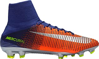 Nike Men's Mercurial Superfly II FG Soccer Cleats (Blue/Red, 13 D(M) US)