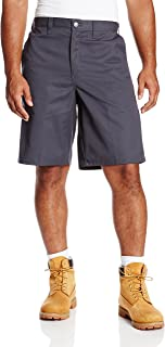 LR642DC Polyester/Cotton Relaxed Fit Men's Premium Industrial Multi-Use Pocket Short with Hidden Snap Closure, Dark Charcoal