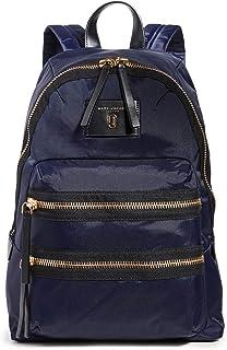 Women's Nylon Biker Backpack, Midnight, Blue, One Size