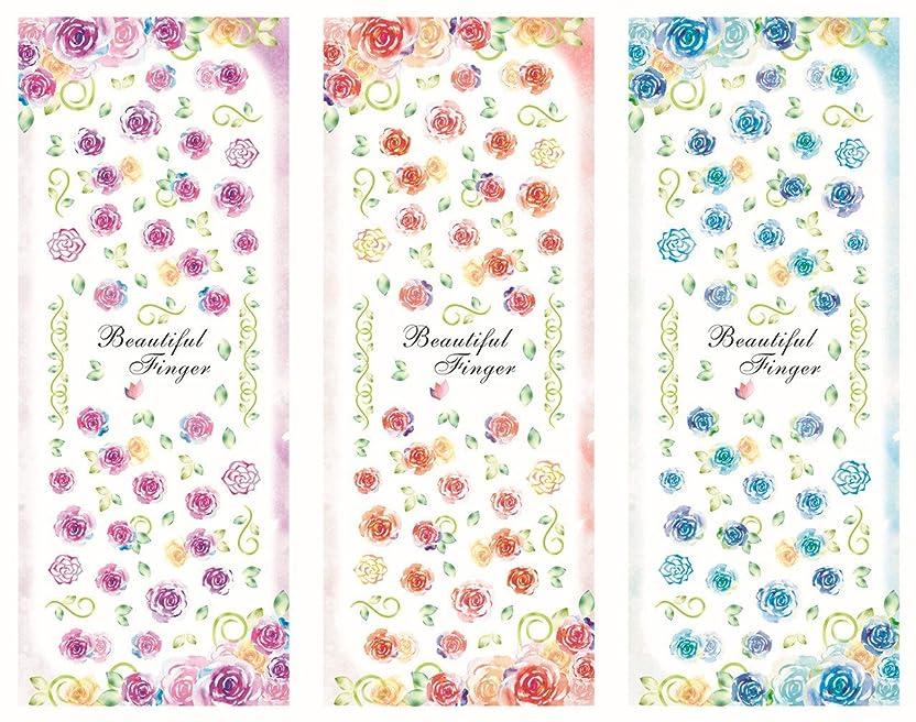 調整するデザートにやにや3パターン/セット 水彩花 フラワー ローズ 薔薇 春夏 ウオーターシール ネイルステッカー ネイルシール ネイルアート ネイルデコ ネイルジュエリー ネイルキット