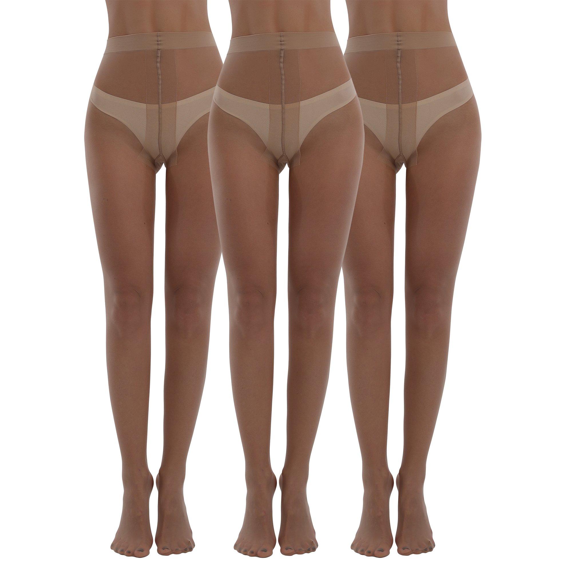 Womens Tights 3packs Denier Crotch