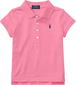 Polo Ralph Lauren Kids Short Sleeve Mesh Polo Shirt (Little Kids)