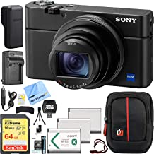 Sony Cyber-Shot DSC-RX100M6 RX100 VI Mark 6 20.2 MP 4K Compact Digital Camera with F2.8 - F4.5 Zeiss 24-200mm Lens with Triple Battery Deco Gear Field Bag Case Memory Card Travel Bundle