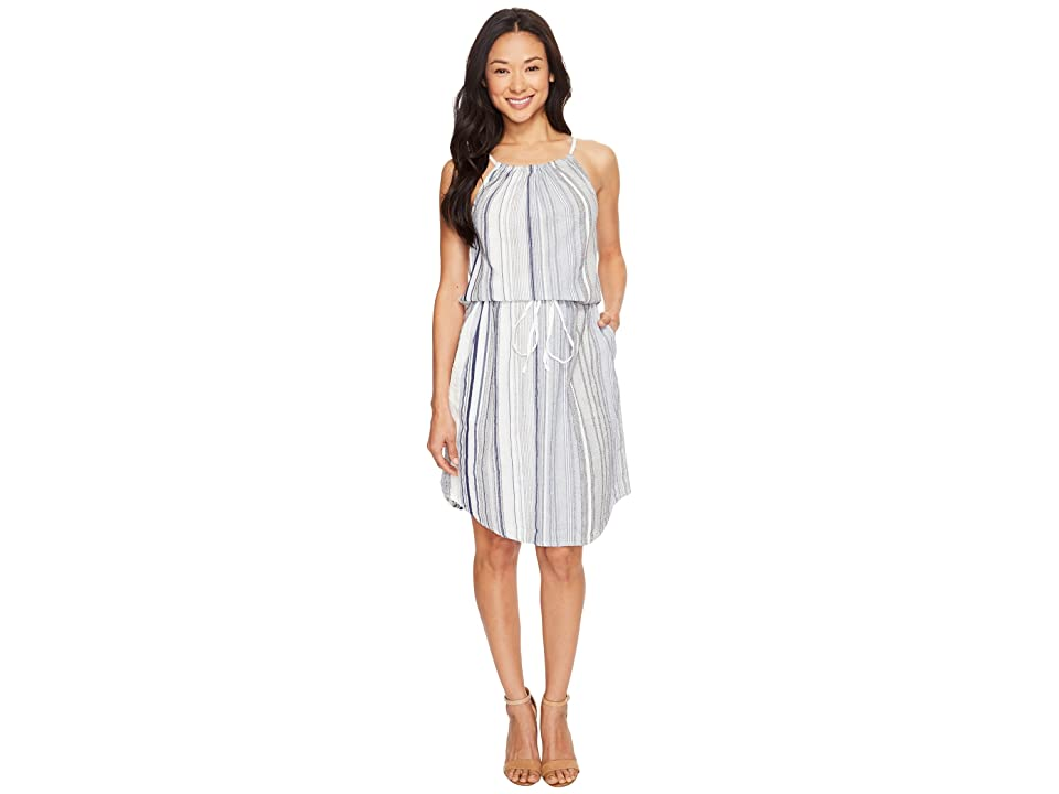 Dylan by True Grit Coast Stripes Strappy Dress (Blue) Women
