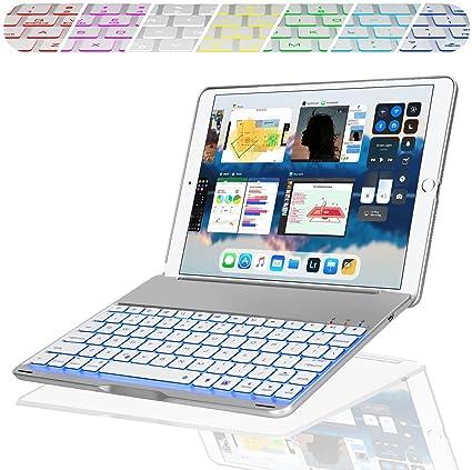 YOUZHA Teclado para iPad Keyboard Case para el Nuevo 2018 ...