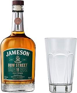 Jameson 18J Bow Street Irish Whiskey Set mit Tall Glas, Whisky, 18 Jahre, Schnaps, Spirituose, Alkohol, Flasche, 55.3 %, 700 ml