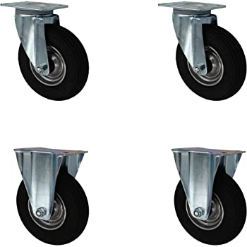"2x Bockrolle Rad 260 x 85 mm 3.00-4/"" Luftrad Gleitlager Transportrolle Laufrad"