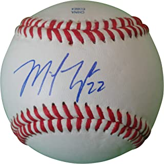 Washington Nationals Michael Taylor Autographed Hand Signed Baseball with Proof Photo of Mike Signing, Chicago White Sox, Oakland Athletics A's, Philadelphia Phillies, COA
