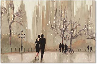 An Evening Out Neutral Artwork by Julia Purinton, 22 by 32-Inch Canvas Wall Art